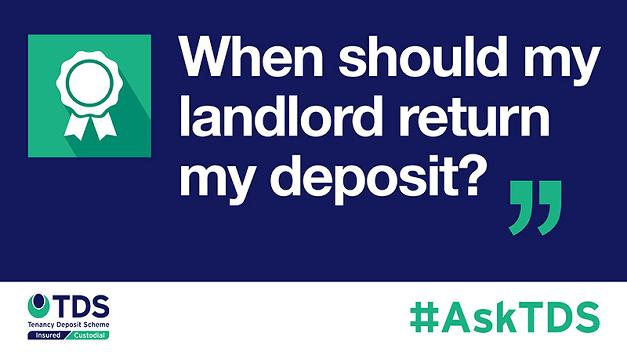 "AskTDS: ""When should my landlord return my deposit"