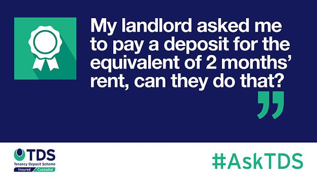 #AskTDS: My landlord is asking me to pay a deposit for the equivalent of 2 months' rent, can they do that?